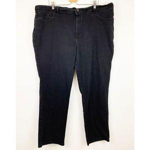Lee Classic Fit Straight Leg Jeans Plus 22W Black